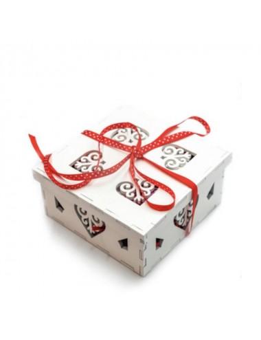 Cutie cadou de lemn alb...